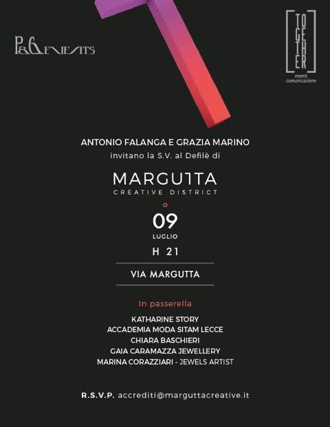 INVITO DEFILE' 9 LUGLIO